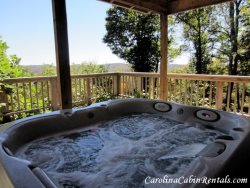 Mountain Sunrise Hot Tub off of Deck