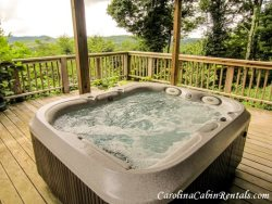 Mountain Sunrise Hot Tub to enjoy the sunrise, views, and wonderful breezes