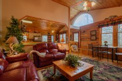 4BR Log Cabin, Hot Tub, Near Boone, Banner Elk and Grandfather Mountain, Great Decks, Wooded with Views, Hiking, Wildlife