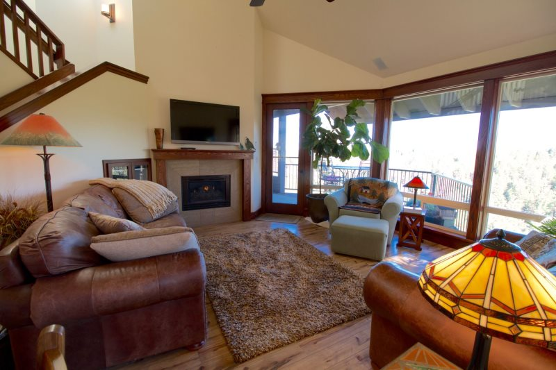 Mt bachelor village lodging bend oregon condo rental hot tub swimming pool river views - The living room great falls mt ...