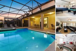 Oasis Dream - 7 Bed Pool Villa with Games Room! Features Mickey, Minions and Princess Themed Rooms!
