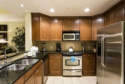 Fully equipped kitchen wit stainless steel appliances