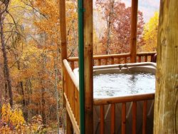 The Sheltered Hot Tub on the Lower Level