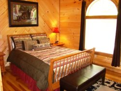 The Master Bedroom Also Has Deck Access to the Hot Tub