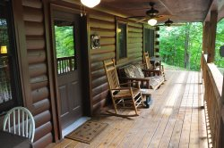 Rock Your Cares Away on the Covered Porch with Ceiling Fans