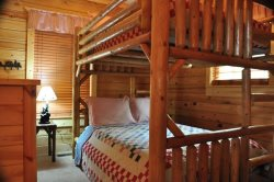 The Second Bedroom has a Bunkbed of 2 Fulls