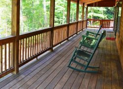 Enjoy the Beauty of the Smokies from the Covered Porch Rain or Shine