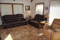 The Leather Sofas and Recliner Mean Comfort