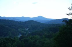 Sapphire and Emerald Mountain Ridges of the Great Smokies Rise Before You