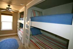 Downstairs Bedroom with Two Twin Bunk Beds