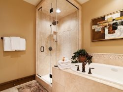 Deep Jetted Tub and Steam Shower in Master Bathroom