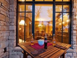 Private Patio with Dining and Living