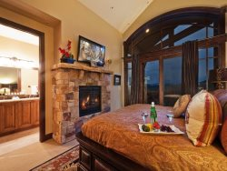 Fireplace and Private Balcony in Master King Suite