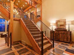 Staircase at Mountain View Retreat
