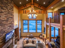 Custom Stone Fireplace in the Great Room