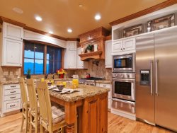 High-End Appliances in Gourmet Kitchen