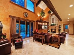 Leather Furnishings in Great Room