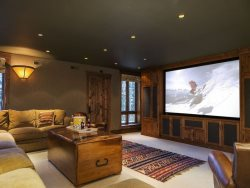 Gracious Living Room with Flat Screen TV