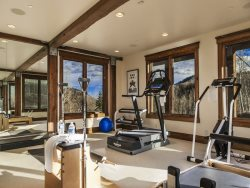 Fitness Room with Mountain Views