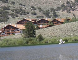 A spacious Interlaken condominium overlooking Gull Lake with incredible views of the Sierra Nevada Mountains.