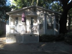 Enjoy the golf car that comes with this Ocean Lakes Vacation Rental as you travel through-out the park!