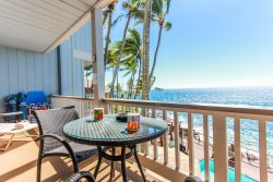 Poipu Palms 204: Oceanfront Corner Condo with Gorgeous Plunge Pool and Deck.  FREE mid-size car.