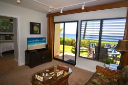 FREE mid-size car with Poipu Shores 102A: Spectacular Sunsets from Private Lanai, Walk to Beach.