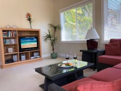 Regency 810 Central A/C condo in the heart of Poipu a short walk to beaches,  Pool, hottub, bbq. Free mid-size car.