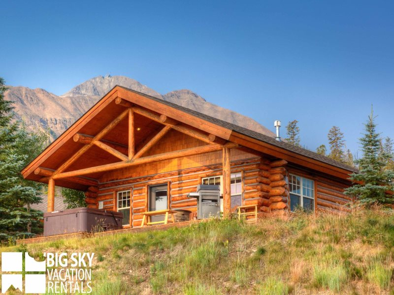 Cowboy heaven cabin big sky mt lodging ski in ski out for Big sky cabin rentals