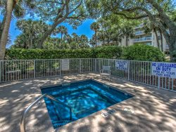 Relax after a day at the beach on the balcony of 107 Barrington Arms in Palmetto Dunes
