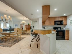 Dining Table has seating for 6 In this Oceanview condo - 107 Barrington Arms