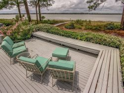 Outside Deck Area with Water Views at 11 Lands End Way