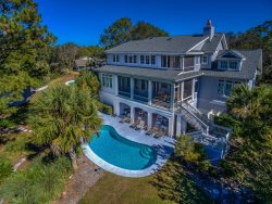 Pool with Lagoon Views at 6 Rum Row in Palmetto Dunes