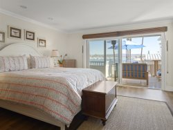 Master Bedroom with Cal King Mattress and Harbor Views
