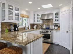 Granite Countertop Gourmet Kitchen and Dining Room Table
