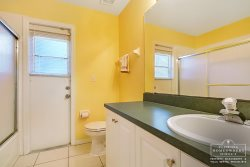 Davenport Vacation Rental in West Ridge - Shared Bathroom leading out to Private Pool Area