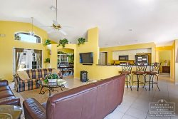 Davenport Vacation Rental in West Ridge - Open Floor Plan Living and Kitchen Area