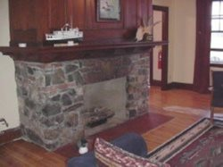 Propane fireplace in main living room