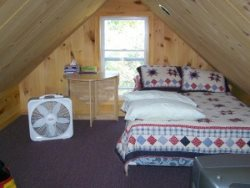 Upstairs bedroom- Moosehead Lake Island