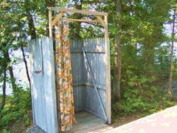 out door shower- Moosehead Lake Island