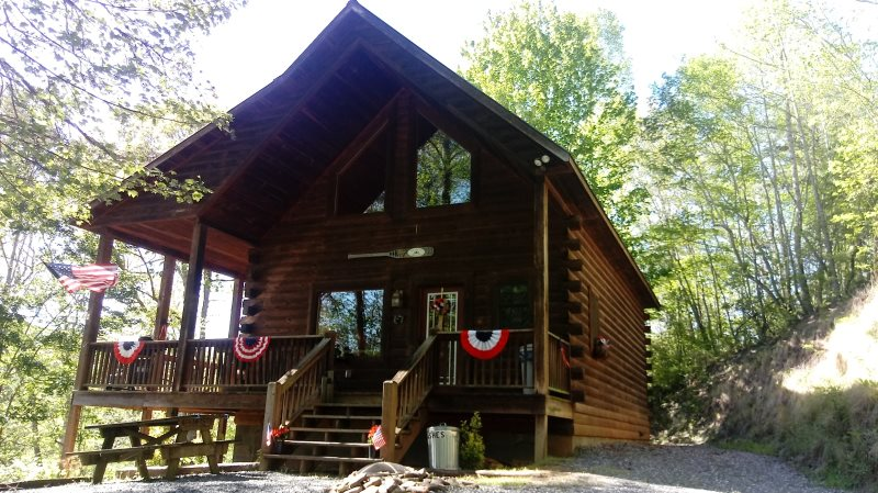 Log cabin rental close to great smoky mountain railroad for Cabin rental smokey mountains