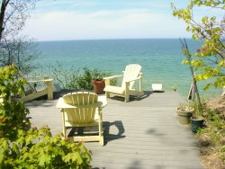 Grand Haven Vacation Rental with Private Beach and Stunning Lake Michigan Views!