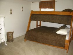 Pacific Villa - Lower Level - Bedroom with Bunk, Twin over Full  pull out Twin trundle