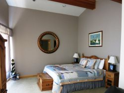Starry Night - upper level, master suite bedroom with King bed