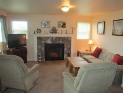 Ambers Point Of View - Living Room - Fireplace and Flat Screen TV
