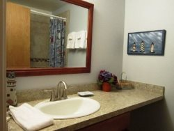 Dock Of The Bay 308 - Main Level - Hallway Bathroom - Walk In Shower