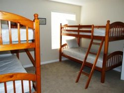 Just For The Halibut - 3rd Floor - Bedroom 5 - 2 Twin Over Twin Bunk Beds
