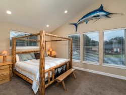 Pacific Breeze - Upper Level - Bedroom with 4 Twin beds and large screen TV
