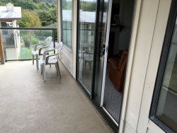 Living room with Queen Size Sleeper Bed