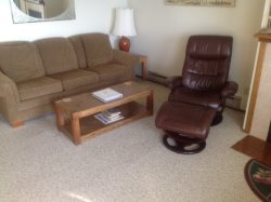 Living Room with Recliner Chair
